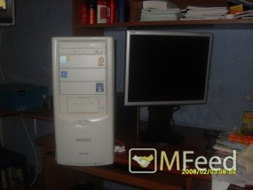 Компьютер с монитором жк