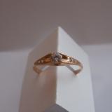 Женские кольца из серебра с позолотой