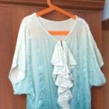 Бархатное платье с эффектом деграде