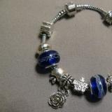 Браслет с шармами Navy Blue Charm R050