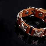 Мужской кожаный браслет Defense, коричневый RM60