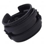 Мужской кожаный браслет Aiken, чёрный RM77