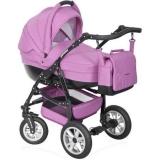 Розовая коляска RIKO PRIMO 2 в 1
