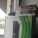 Xbox 360 + 6 игр на дисках