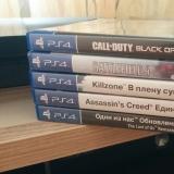 Sony Playstation 4 с одним джойстиком и 5 дисками